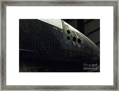 The Space Shuttle Endeavour At Its Final Destination 18 Framed Print