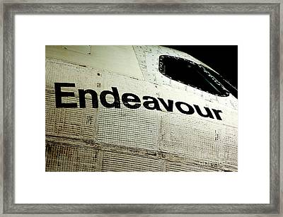 The Space Shuttle Endeavour At Its Final Destination 21 Framed Print