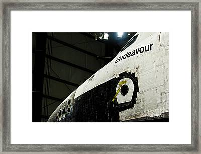The Space Shuttle Endeavour At Its Final Destination 28 Framed Print