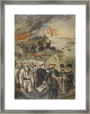 The Spanish American War Landing Framed Print