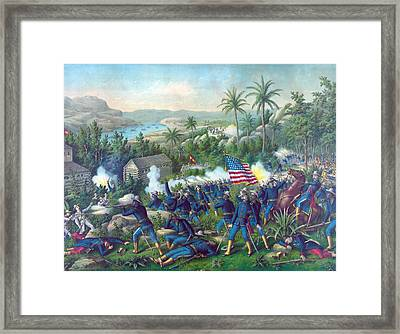 The Spanish American War. The Battle Framed Print