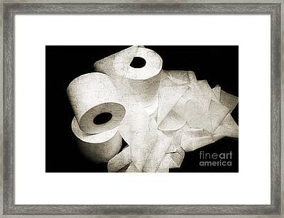 The Spare Rolls 2 - Toilet Paper - Bathroom Design - Restroom - Powder Room Framed Print