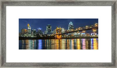 The Sparkle Of The Queen City Framed Print