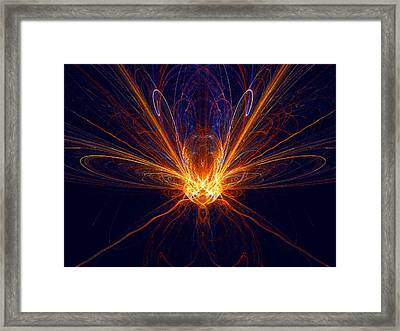 Framed Print featuring the digital art The Spectacular Digital Firefly by R Thomas Brass