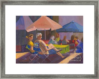 Framed Print featuring the painting The Spectators by Sandy Linden