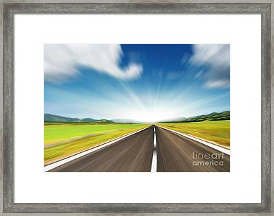 The Speed Framed Print by Boon Mee