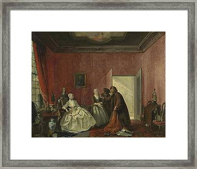 The Spendthrift Or The Wasteful Woman, Act IIi Framed Print