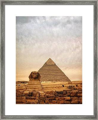 The Sphinx And Pyramid Of Chephren Framed Print by Marie-louise Mandl / Eyeem