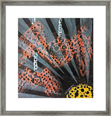 The Spider And The Sun Son Framed Print