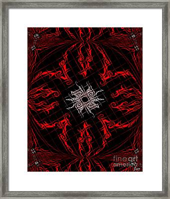 Framed Print featuring the painting The Spider's Web  by Roz Abellera Art