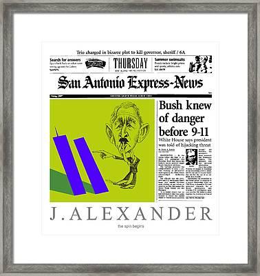 The Spin Begins Framed Print by Jeff Alexander