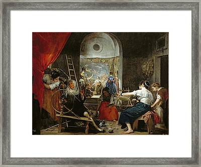 The Spinners, Or The Fable Of Arachne, 1657 Oil On Canvas For Detail See 36741 Framed Print by Diego Rodriguez de Silva y Velazquez