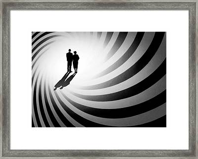 The Spiral Of Life Framed Print