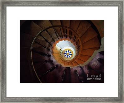 The Spiral Staircase Of Villa Vizcaya Framed Print by Mike Nellums