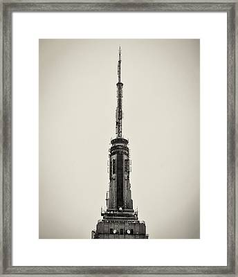 The Spire Of The Empire State Building Framed Print by Bill Cannon