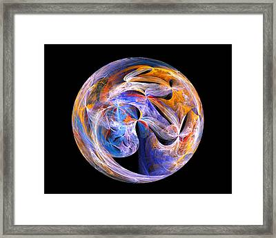 Framed Print featuring the digital art The Spirit At Creation by R Thomas Brass