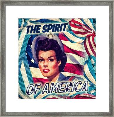 The Spirit Of America Framed Print by Mo T