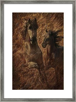 The Spirit Of Black Sterling Framed Print by Melinda Hughes-Berland