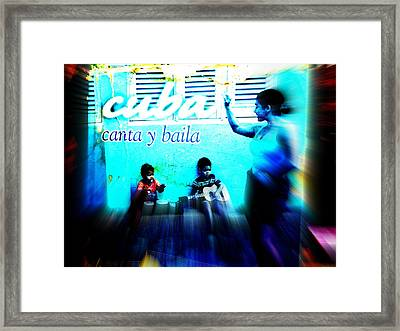 The Spirit Of Cuba And Cubans  Framed Print by Funkpix Photo Hunter