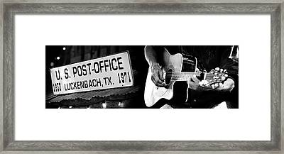 The Spirit Of Luckenbach Texas Framed Print