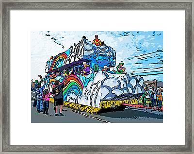 The Spirit Of Mardi Gras Framed Print by Steve Harrington