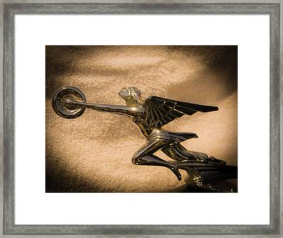 The Spirit Of Speed Nike Framed Print by Christy Usilton