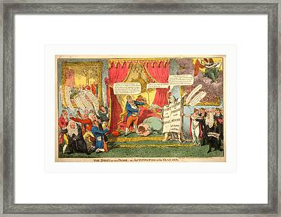 The Spirit Of The Book -or Anticipation Of The Year 1813 Framed Print by English School