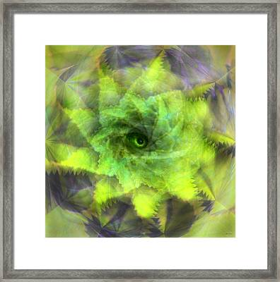 Framed Print featuring the digital art The Spirit Of The Jungle by Martina  Rathgens