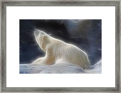The Spirit Of The Polar Bear Framed Print by Teresa Zieba