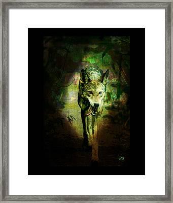 The Spirit Of The Wolf Framed Print by Absinthe Art By Michelle LeAnn Scott