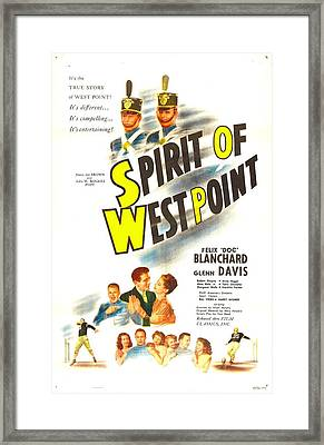 The Spirit Of West Point, Us Poster Framed Print by Everett