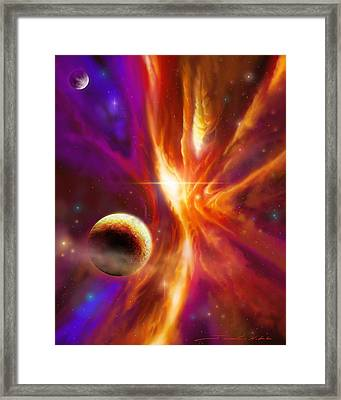 The Spirit Realm Of The Saphire Nebula Framed Print