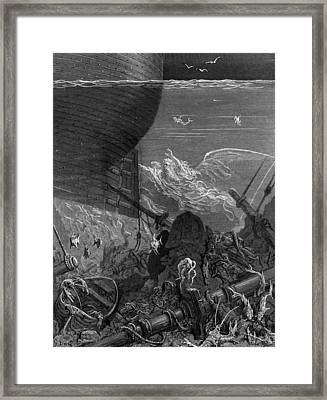 The Spirit That Had Followed The Ship From The Antartic Framed Print by Gustave Dore