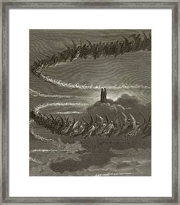 The Spirits In Jupiter Framed Print by Gustave Dore