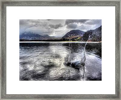 The Splash Framed Print by Chris Whittle