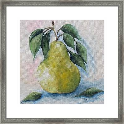 The Spring Pear Framed Print