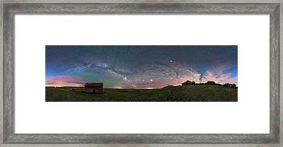 The Spring Sky Over The Pioneer Framed Print by Alan Dyer