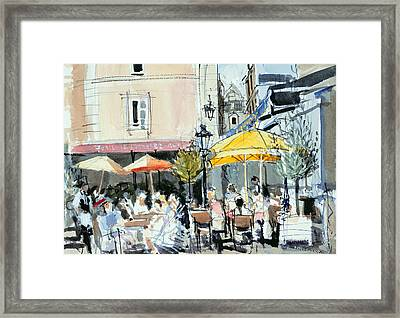 The Square At St. Malo Framed Print