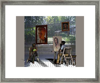 The Square Framed Print