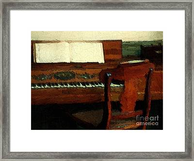 The Square Piano Framed Print by RC DeWinter