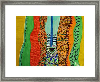 The Squeeze Framed Print
