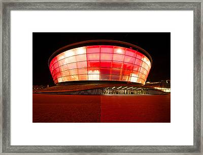 The Sse Hydro In Red Framed Print