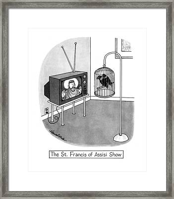 The St. Francis Of Assisi Show Framed Print by J.B. Handelsman