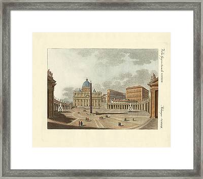 The St. Peter's Cathedral In Rome Framed Print by Splendid Art Prints