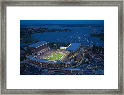 Husky Stadium And The Lake Framed Print