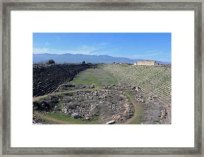 The Stadium Of Aphrodisias Framed Print by Auntieblues