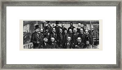 The Staff And Promoters Of The Challenger Deep-sea Framed Print