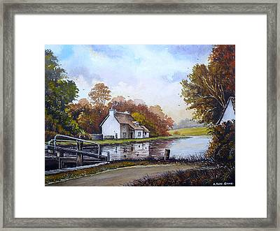 The Staffordshire And Worcestershire Canal Framed Print by Andrew Read