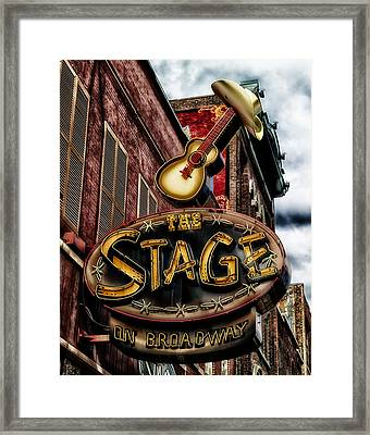 The Stage In Nashville Framed Print by Mountain Dreams