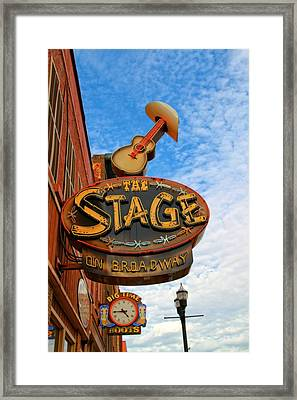 The Stage On Broadway Framed Print by Dan Sproul